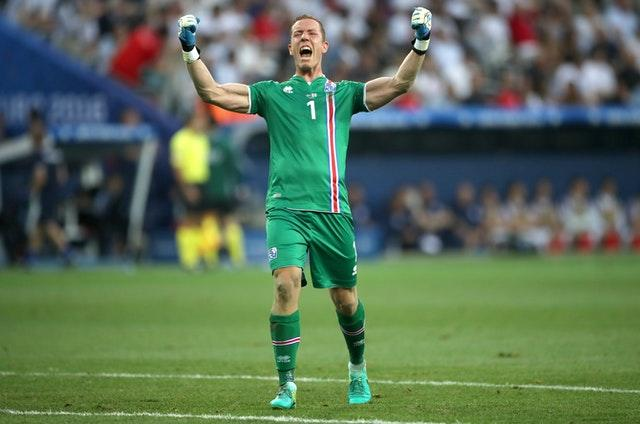 Hannes Thor Halldorsson played in Iceland's shock Euro 2016 win over England.