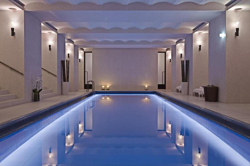 The swimming pool at the Akasha Spa, Hotel Cafe Royal