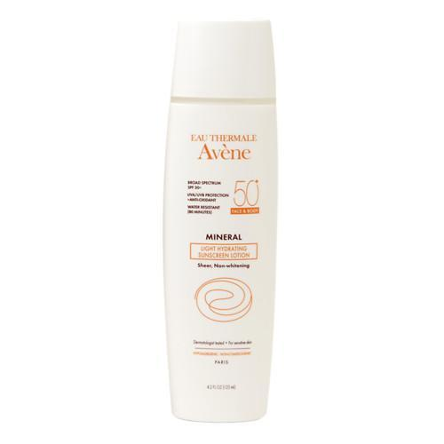 <p><b>Active Ingredients:</b> 4% Titanium Dioxide and 6% Zinc Oxide <br>Finding an oil-free sunscreen that is also hydrating, is next to impossible, but French skincare brand Avène delivers. This lotion glides onto skin, instantly making it feel smoother and softer. Their waterproof mineral sunscreens have been revamped with new non-nano formulas that are free of parabens and fragrance.<br><br>Eau Thermale Avène Mineral Light Hydrating Sunscreen SPF 50 ($30)</p>