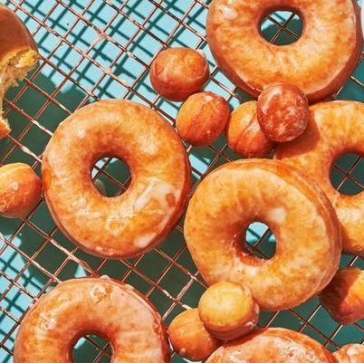 """<p>This recipe is for everyone's fave: classic glazed. The results will have you ruined for all other doughnuts... seriously, they even give Krispy Kreme a run for their money.</p><p>Get the <a href=""""https://www.delish.com/uk/cooking/recipes/a30165545/how-to-make-donuts-at-home/"""" rel=""""nofollow noopener"""" target=""""_blank"""" data-ylk=""""slk:Glazed Doughnuts"""" class=""""link rapid-noclick-resp"""">Glazed Doughnuts</a> recipe.</p>"""