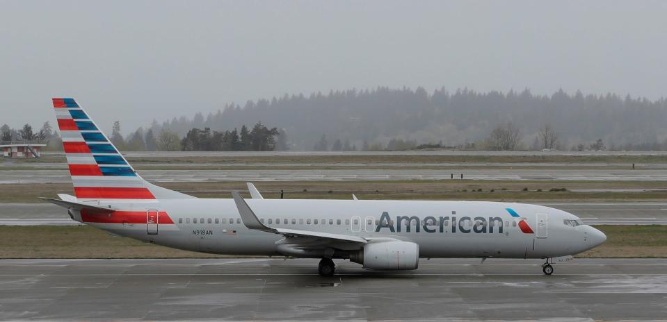American Airlines apologised to South Carolina mother Jordan Flake for removing her and her son from a plane over their skin condition. (AP Photo/Ted S. Warren, File)