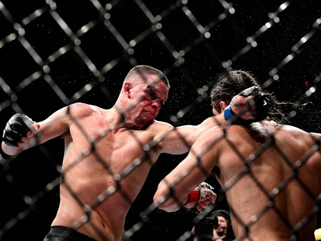 Diaz and Masvidal battle at UFC 244: Getty