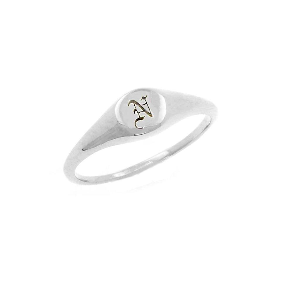 """<br><br><strong>No13 Jewellery</strong> Silver Initial Signet Ring, $, available at <a href=""""https://www.no13.london/all-products/mini-initial-signet-ring-silver"""" rel=""""nofollow noopener"""" target=""""_blank"""" data-ylk=""""slk:No13 Jewellery"""" class=""""link rapid-noclick-resp"""">No13 Jewellery</a>"""