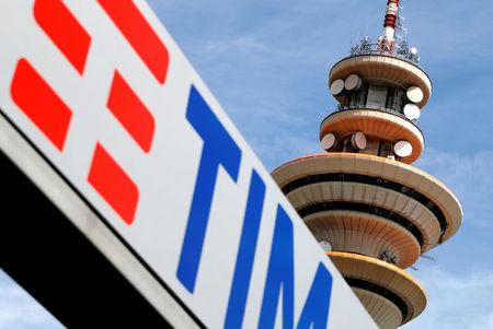 FILE PHOTO: Telecom Italia tower is seen at the headquarter in Rozzano neighbourhood of Milan