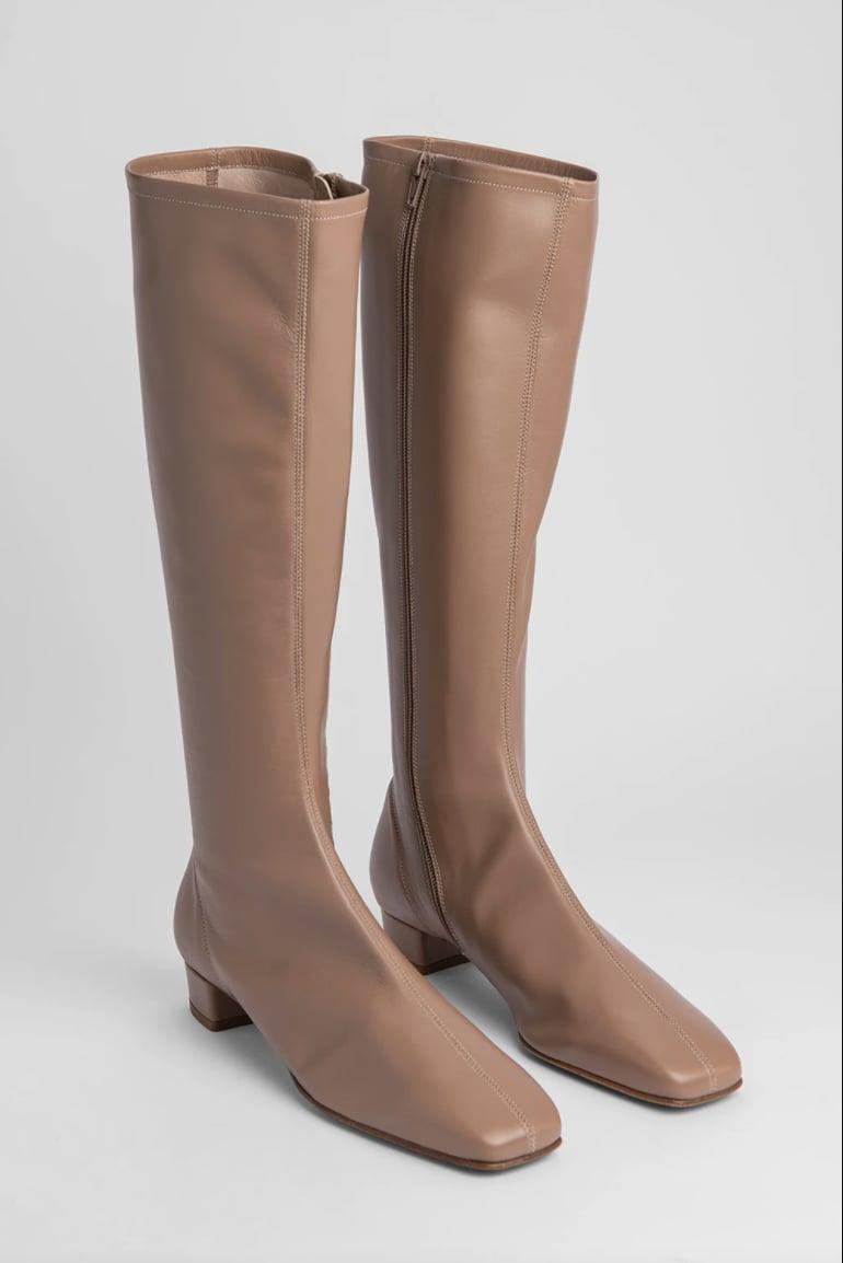 <p><span>By Far Edie Nude Leather Boot</span> ($680)</p>