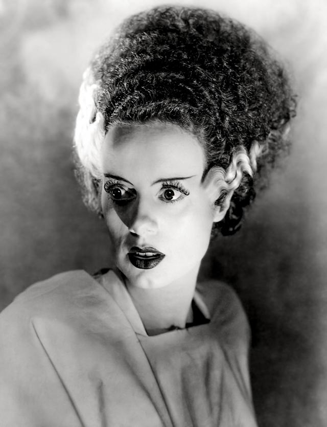 """Actress Elsa Lanchester in a scene from the movie """"Bride of Frankenstein"""" (Photo by Donaldson Collection/Getty Images)"""