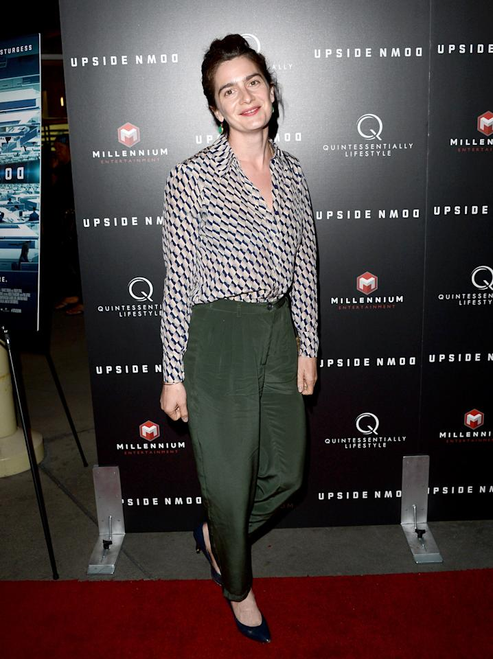 "HOLLYWOOD, CA - MARCH 12:  Actress Gaby Hoffmann arrives at a special LA screening of Millennium Entertainment's ""Upside Down"" at ArcLight Hollywood on March 12, 2013 in Hollywood, California.  (Photo by Jason Merritt/Getty Images)"