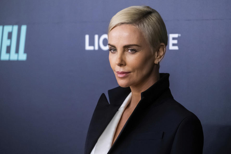 """Charlize Theron attends a screening of """"Bombshell"""" at Jazz at Lincoln Center's Frederick P. Rose Hall on Monday, Dec. 16, 2019, in New York. (Photo by Charles Sykes/Invision/AP)"""