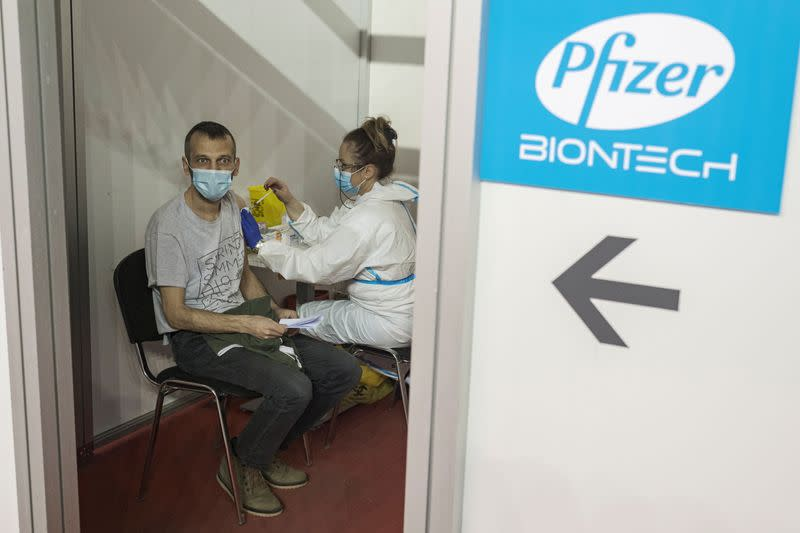 FILE PHOTO: Serbia continues mass vaccination of its citizens against COVID-19