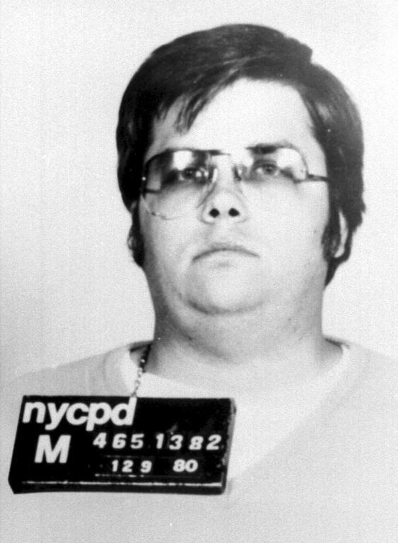 Police mugshot: Mark Chapman after his arrest for Lennon's murder