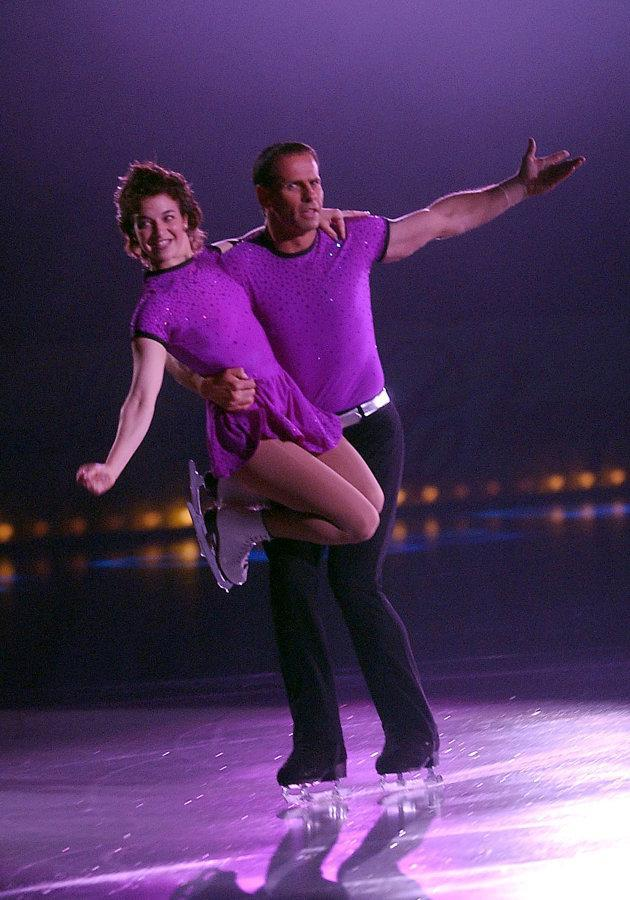 Isabelle Brasseur and Lloyd Eisler skate as a part of the Champions on Ice Tour.