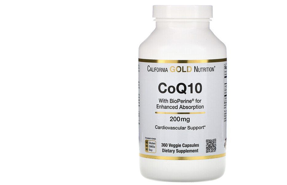 California Gold Nutrition, CoQ10 USP with Bioperine. (PHOTO: iHerb Singapore)