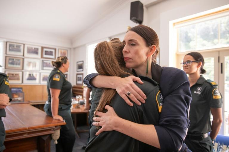 New Zealand Prime Minister Jacinda Ardern praised helicopter pilots for landing on the volcano, and said her compatriots were in mourning (AFP Photo/Dom Thomas)