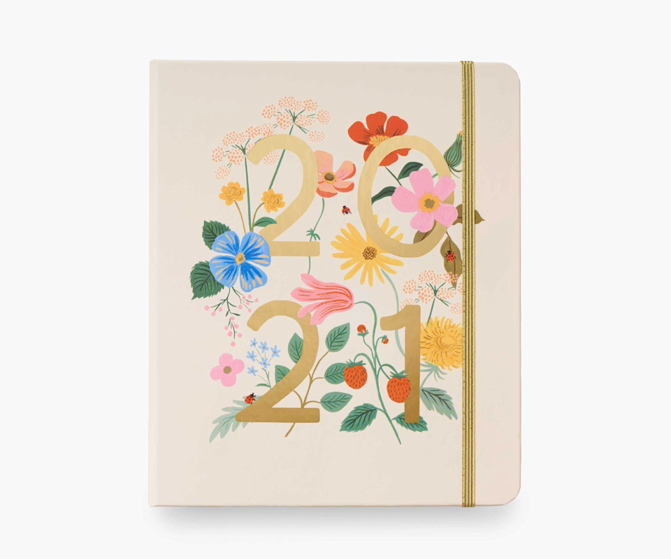 "<h3><a href=""https://riflepaperco.com/2021-wild-garden-17-month-planner"" rel=""nofollow noopener"" target=""_blank"" data-ylk=""slk:Rifle Paper Co. 17-Month Planner"" class=""link rapid-noclick-resp"">Rifle Paper Co. 17-Month Planner</a></h3><br><strong>Deal: Up to 20% off on select 2021 planners</strong><br><br>No surprise here, Rifle Paper Co.'s 17-month hardcover planners feature a variety of their standout illustrations. This one includes weekly and monthly pages, sections for celebrations, notes, and contacts, 3 sticker pages, and a pocket with a ruler. <br><br><br><br><strong>Rifle Paper Co</strong> 17-Month Planner, $, available at <a href=""https://go.skimresources.com/?id=30283X879131&url=https%3A%2F%2Friflepaperco.com%2F2021-wild-garden-17-month-planner"" rel=""nofollow noopener"" target=""_blank"" data-ylk=""slk:Rifle Paper Co"" class=""link rapid-noclick-resp"">Rifle Paper Co</a>"