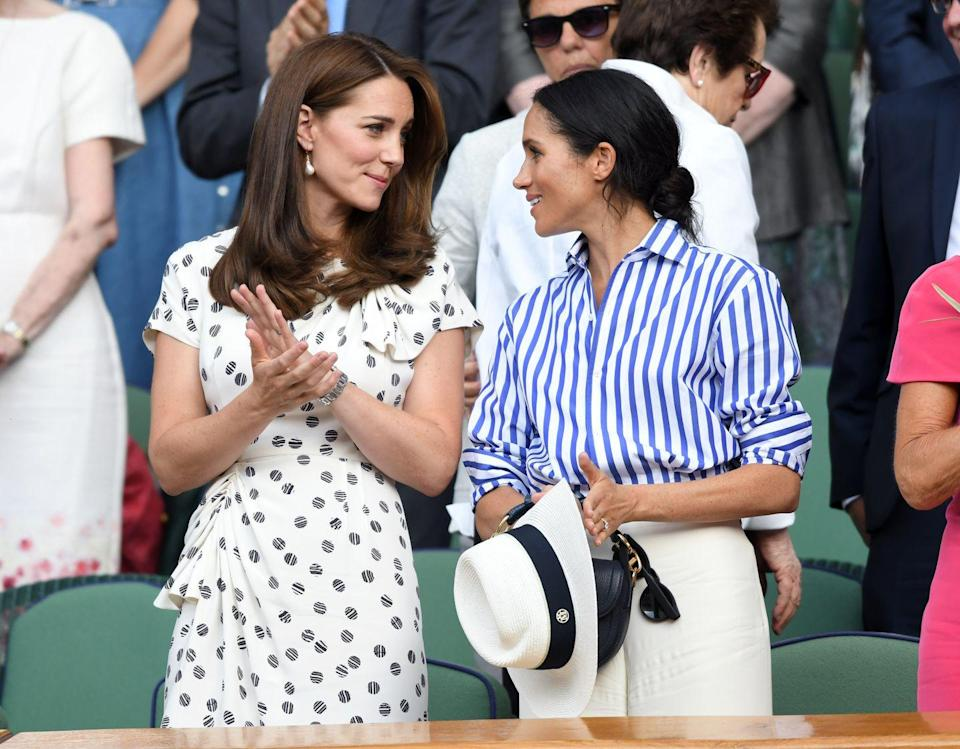 """<p>People can't seem to get past those feud rumors, and were even nitpicky about <a href=""""https://www.cosmopolitan.com/entertainment/celebs/a28606177/cambridges-backlash-meghan-markle-birthday-post/"""" rel=""""nofollow noopener"""" target=""""_blank"""" data-ylk=""""slk:Will and Kate's birthday post to Meghan"""" class=""""link rapid-noclick-resp"""">Will and Kate's birthday post to Meghan</a> this year (which, by the way, was very nice). The Duke and Duchess captioned the photo, """"Wishing a very happy birthday to The Duchess of Sussex today!"""" with a picture of the four of them during Christmas alongside Prince Charles. People claimed Kate was using it as a way to get attention, which sounds as crazy as you think it is. </p>"""