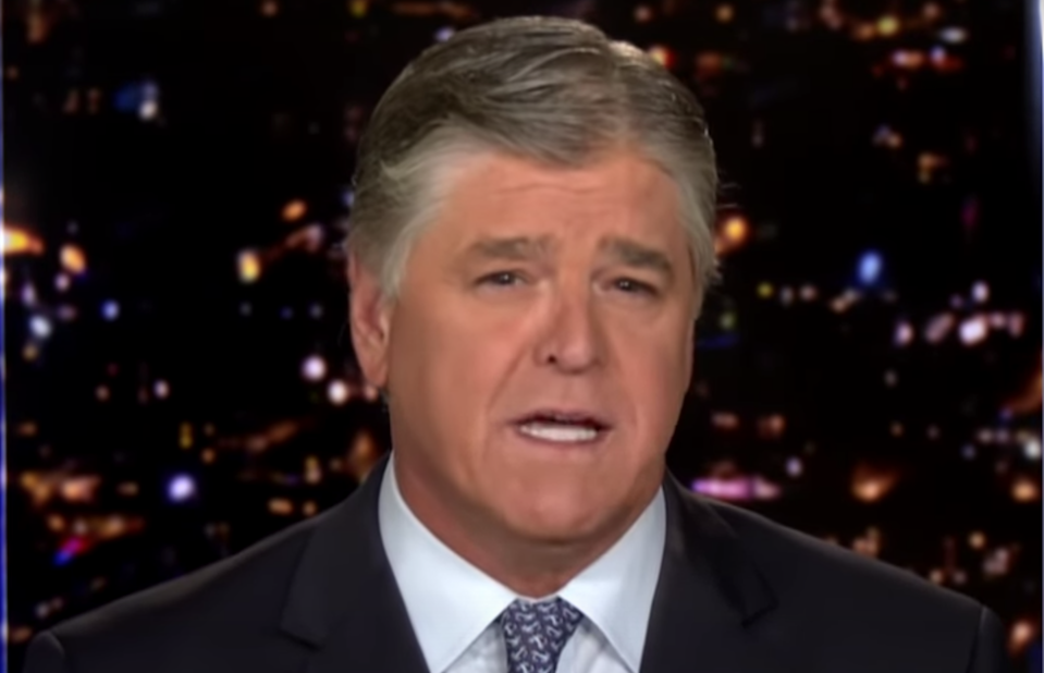<p>Sean Hannity faces outrage on social media after he referred to Adam Toledo as a 'man'</p> (Fox News)