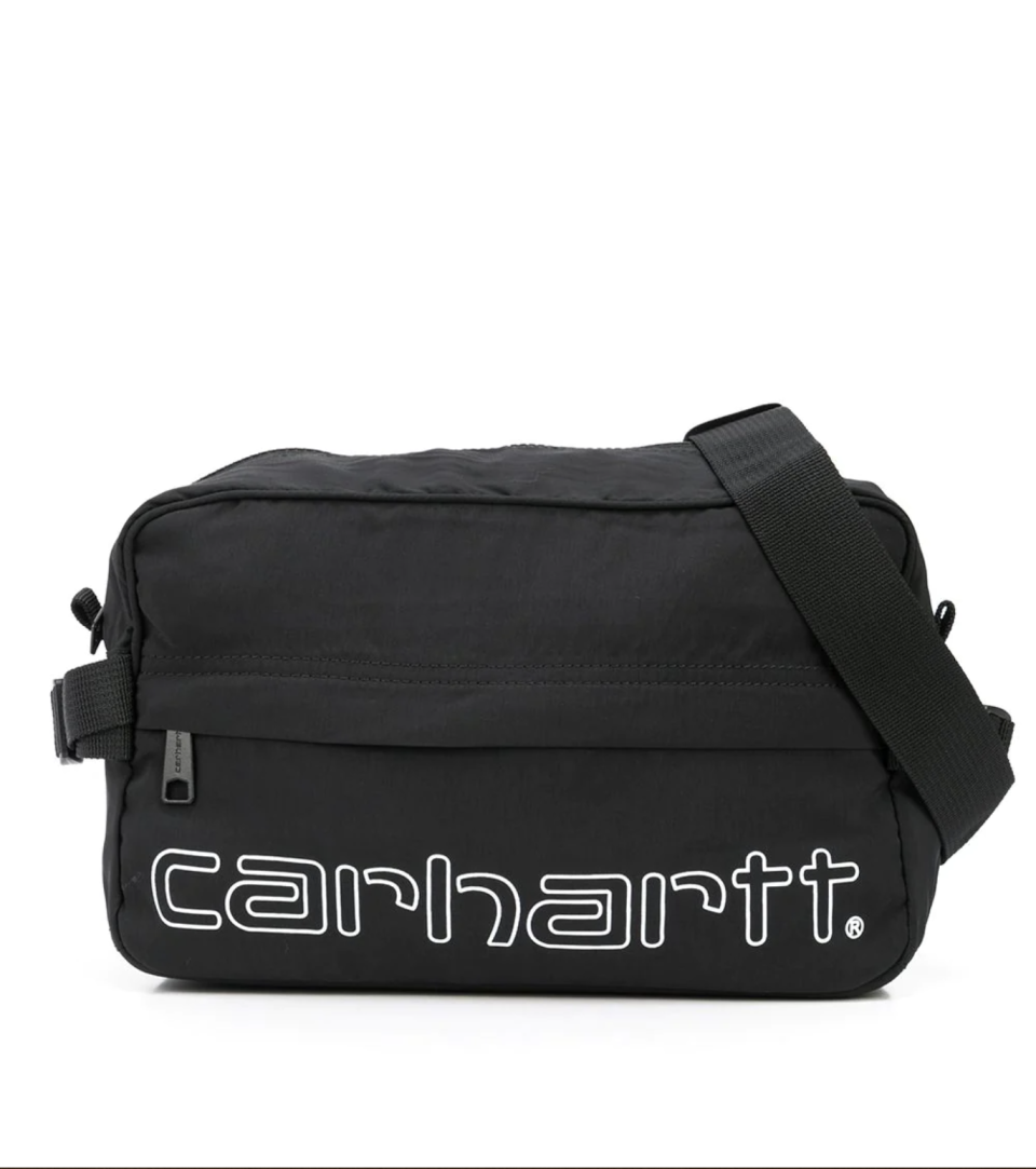 """<p><strong>Carhartt WIP</strong></p><p>farfetch.com</p><p><strong>$50.00</strong></p><p><a href=""""https://go.redirectingat.com?id=74968X1596630&url=https%3A%2F%2Fwww.farfetch.com%2Fshopping%2Fwomen%2Fcarhartt-wip-logo-print-belt-bag-item-16721179.aspx&sref=https%3A%2F%2Fwww.seventeen.com%2Flife%2Fg23515577%2Fcool-gifts-for-teen-boys%2F"""" rel=""""nofollow noopener"""" target=""""_blank"""" data-ylk=""""slk:Shop Now"""" class=""""link rapid-noclick-resp"""">Shop Now</a></p><p>A little black fanny pack goes with everything. Trust, he'll be reaching for that bad boy every time he gets dressed.</p>"""