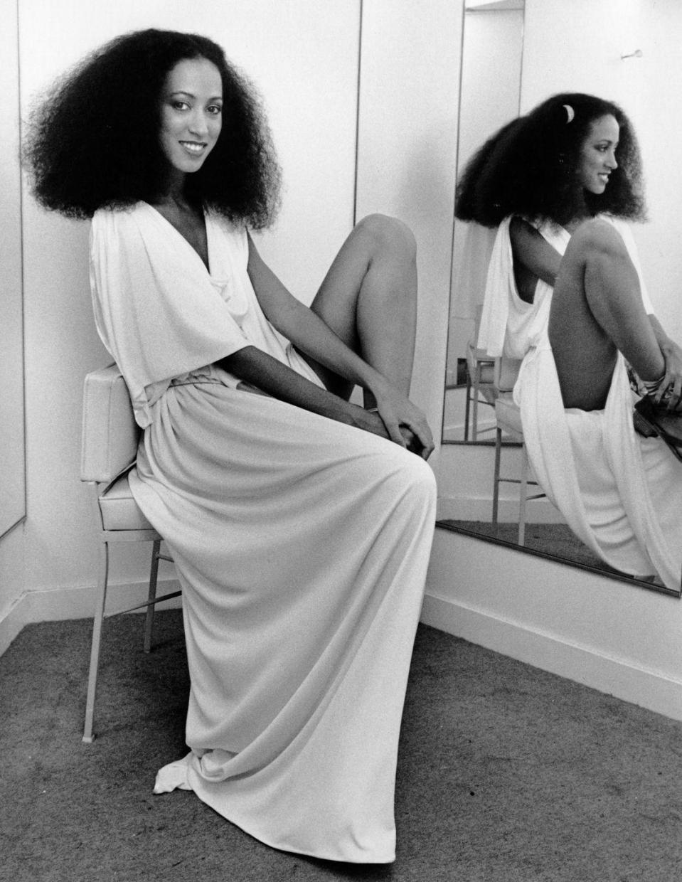 <p>Born to a Swedish saxophonist and African American artist, the captivating and ethereal Pat Cleveland was raised in Harlem and took the fashion scene by storm in the '70s. In 1973, she was one of 10 Black models chosen for the Battle of Versailles, a runway show to raise money for the the Palace of Versailles's restoration that pitted five American designers against five French haute couture designers. It was a status quo–shifting event that had never seen so many models of color on the runway at one time. </p>