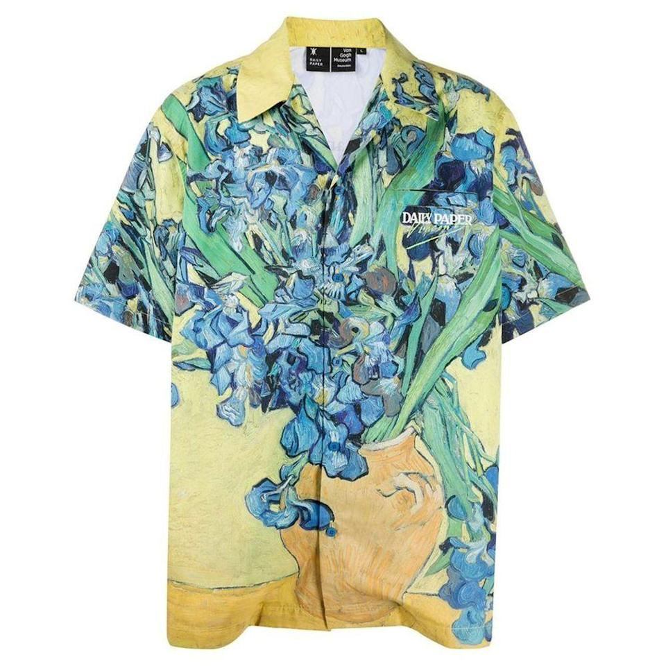"<p><strong>Daily Paper x Van Gogh Museum</strong></p><p>dailypaperclothing.com</p><p><strong>145.00</strong></p><p><a href=""https://www.dailypaperclothing.com/products/yellow-flowers-van-hajo-shirt?variant=31399793688710"" rel=""nofollow noopener"" target=""_blank"" data-ylk=""slk:Shop Now"" class=""link rapid-noclick-resp"">Shop Now</a></p><p>Nothing says ""I took Art History 101"" quite like this masterpiece.</p>"