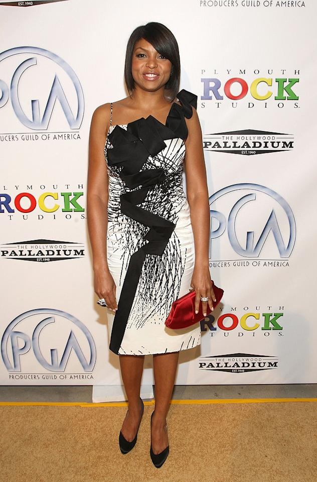 """<a href=""""http://movies.yahoo.com/movie/contributor/1804514499"""">Taraji P. Henson</a> at the 20th Annual Producers Guild Awards in Hollywood - 01/24/2009"""