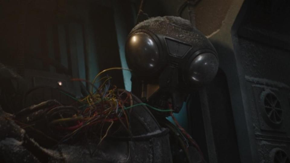 <p> <strong>Episode 2</strong> </p> <p> The Richard Ayoade-voiced droid Zero may have been permanently decommissioned by Mando in the first season, though he still makes a return here. He's first glimpsed as part of the wire-filled pile of scraps on The Mandalorian's ship, and is then taken over by the Frog Lady passenger, who uses the droid's vocabulator to help translate her language into something more understandable to The Mandalorian. </p>