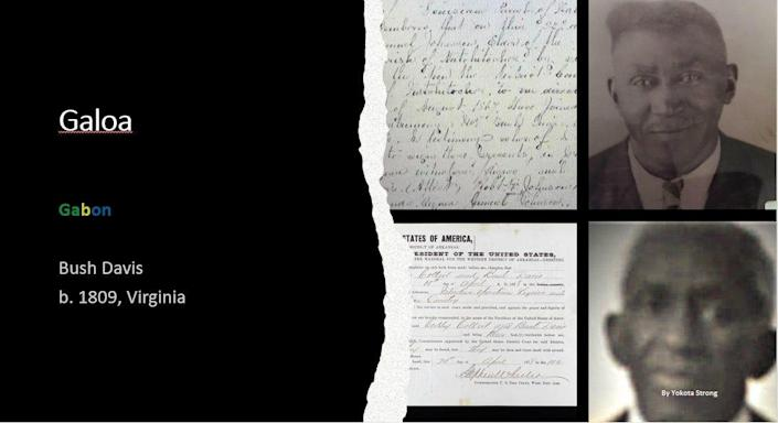 Genealogist Yokota Strong said Ancestry.com's extensive digitized record of the Freedmen's Bureau shows that his third great-grandfather Bush Davis worked as a sharecropper on a Black-owned plantation as a former slave. Credit: Ancestry.com