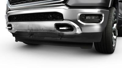 The 2019 Ram 1500 is the first high-volume vehicle to feature an active air dam. Automakers count on Magna's active aero systems to help meet tightening emissions and fuel-economy targets. (Photos:FCA US LLC) (CNW Group/Magna International Inc.)