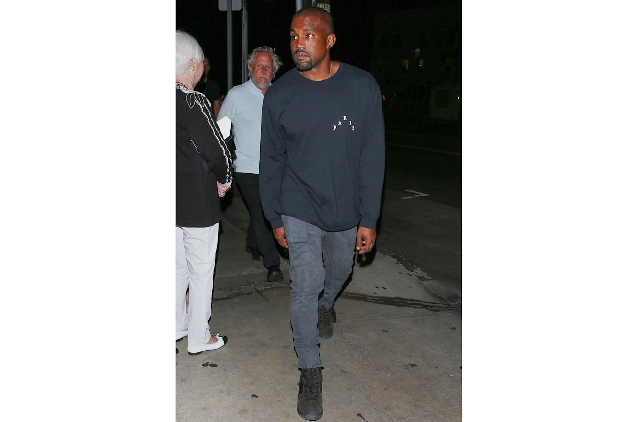 <p>Kanye's jeans are so much washed as they are straight-out-the-store gray, which is a subtle way to break up other dark hues in your outfit while still achieving that sleek look. Plus, they've got a little stretch for added comfort.</p>