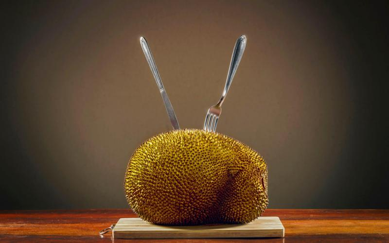 The flesh of this spiny fruit is often used as a meat substitute - Science Photo Library RF