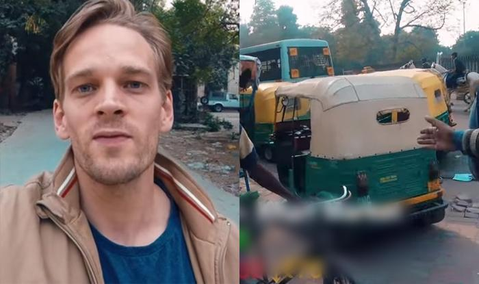 In the video the man shows how rickshawallahs try to dupe foreigners and ask for more than the prescribed price for even a short distance.