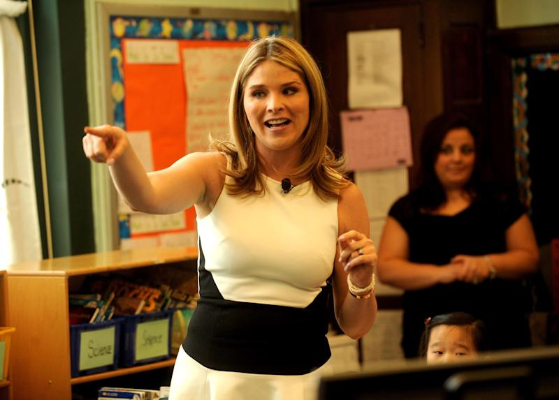 Bing and Jenna Bush Hager host the Bing in the Classroom Launch Event on April 23, 2014 at Clarion School in Brooklyn, New York. (Photo by Brad Barket/Getty Images for Bing) -- Daughter of George W. Bush & Laura Bush -- Wife of Henry Chase Hager
