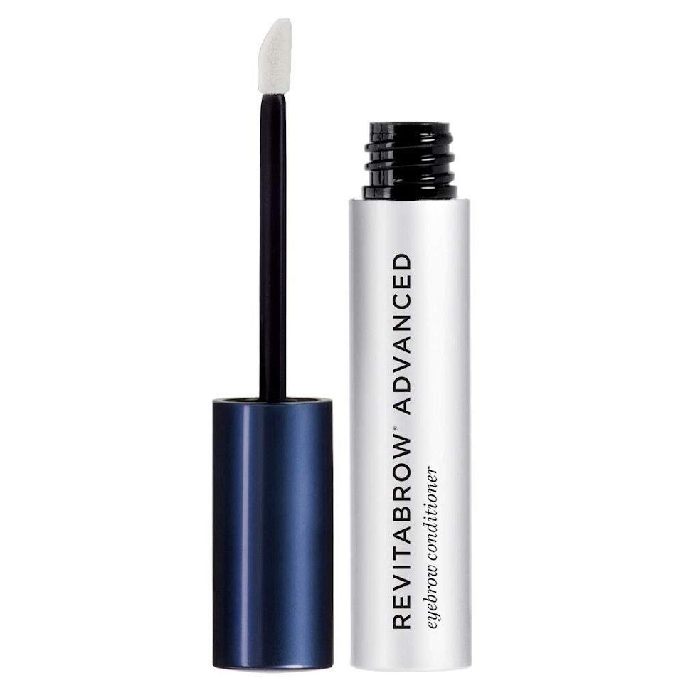 """<p>Who here takes about a solid 10 minutes to fill in their brows? For those of you who just nodded your head, we have a longer-term solution for you: <a href=""""https://www.allure.com/review/revitabrow?mbid=synd_yahoo_rss"""" rel=""""nofollow noopener"""" target=""""_blank"""" data-ylk=""""slk:RevitaBrow's Advanced Eyebrow Conditioner"""" class=""""link rapid-noclick-resp"""">RevitaBrow's Advanced Eyebrow Conditioner</a>. It's packed with peptides and <a href=""""https://www.allure.com/story/should-i-take-biotin-supplements-vitamin-b7-deficiency?mbid=synd_yahoo_rss"""" rel=""""nofollow noopener"""" target=""""_blank"""" data-ylk=""""slk:biotin"""" class=""""link rapid-noclick-resp"""">biotin</a> — ingredients known for promoting the growth of healthy, thick hair — that comes in a lightweight, clear serum that you apply every night to clean brows. </p> <p>""""After only about four weeks of nightly use, my brows seemed fuller and felt less brittle, so they're less prone to snap off when they get too long,"""" <em>Allure</em>'s research director Lori Segal says of the cooling serum. Fuller brows, less time spent filling them in, can't lose.</p> $58, Amazon. <a href=""""https://www.amazon.com/RevitaLash-Cosmetics-MAIN-956487-RevitaBrow-Conditioner/dp/B01MS0AB5N"""" rel=""""nofollow noopener"""" target=""""_blank"""" data-ylk=""""slk:Get it now!"""" class=""""link rapid-noclick-resp"""">Get it now!</a>"""