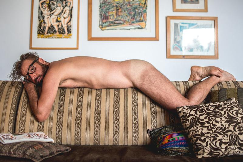 The 164-page issuefeatures 16 local men of varying ages, body types and stages of undress.