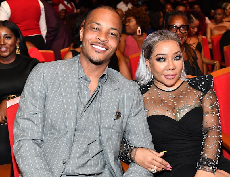 T.I. and wife Tiny at event