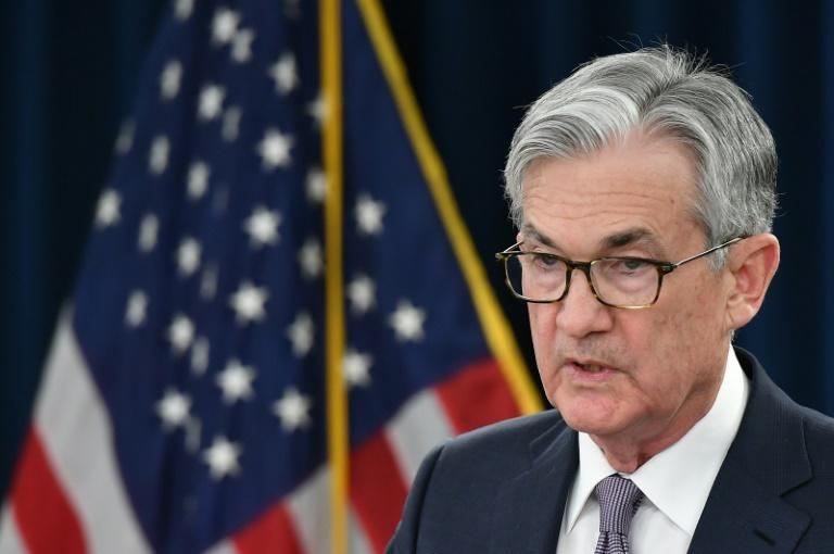 Federal Reserve Board Chairman Jerome Powell speaks during a press conference (AFP Photo/MANDEL NGAN)