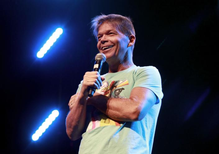 LOS ANGELES, CALIFORNIA - OCTOBER 11: Rob Liefeld speaks onstage at the 'Rob Liefeld Remembers Stan Lee' panel during 2019 Los Angeles Comic Con at Los Angeles Convention Center on October 11, 2019 in Los Angeles, California. (Photo by Paul Butterfield/Getty Images)