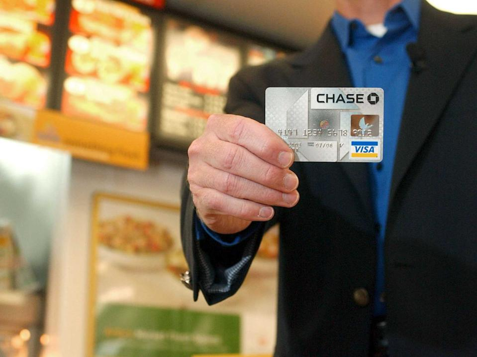 holding up credit card