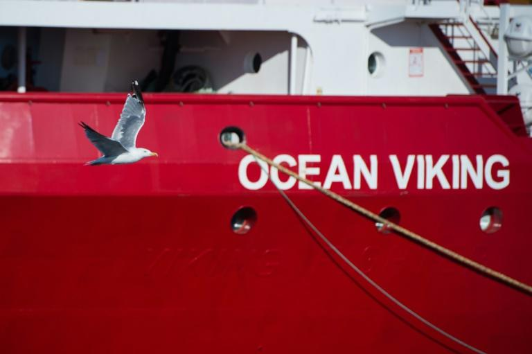 Salah, Khalil and Ibrahim, aged between 19-22, sat in a corner of the Ocean Viking vessel operated by SOS Mediterranee and Doctors without Borders as it waited for permission to dock at a port