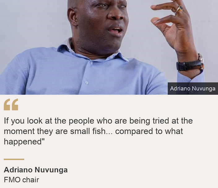"""""""If you look at the people who are being tried at the moment they are small fish... compared to what happened"""""""", Source: Adriano Nuvunga, Source description: FMO chair, Image: Adriano Nuvunga"""