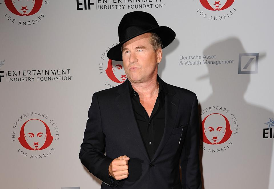 """SANTA MONICA, CA - SEPTEMBER 25:  Actor Val Kilmer attends the 23rd annual Simply Shakespeare benefit reading of """"The Two Gentlemen of Verona"""" at The Eli and Edythe Broad Stage on September 25, 2013 in Santa Monica, California.  (Photo by Jason LaVeris/FilmMagic)"""