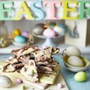 """<p>This chocolatey, tasty treat is SO easy to make</p><p><strong>Recipe: <a href=""""https://www.goodhousekeeping.com/uk/food/recipes/a568023/easter-bark/"""" rel=""""nofollow noopener"""" target=""""_blank"""" data-ylk=""""slk:Easy Chocolate Easter Bark"""" class=""""link rapid-noclick-resp"""">Easy Chocolate Easter Bark</a></strong></p>"""