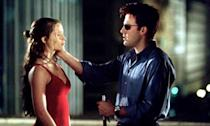 <p>Ben Affleck says that he and Jennifer Garner fell in love shooting the superhero movie, having become friends on Pearl Harbour. Awkwardly, he was engaged to Jennifer Lopez at the time and she was married to Scott Foley. They didn't get together straight away though; Bennifer broke up in 2004, a year after the Daredevil premiere, and Garner filed for divorce two months later. </p>