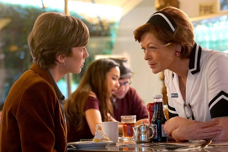 Carrie Coon as Gloria Burgle, Frances Fisher as Vivian Lord in FX's Fargo.