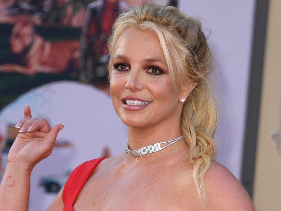 Britney Spears at the premiere of 'Once Upon a Time ... in Hollywood' on 22 July 2019 in Hollywood, California (VALERIE MACON/AFP via Getty Images)