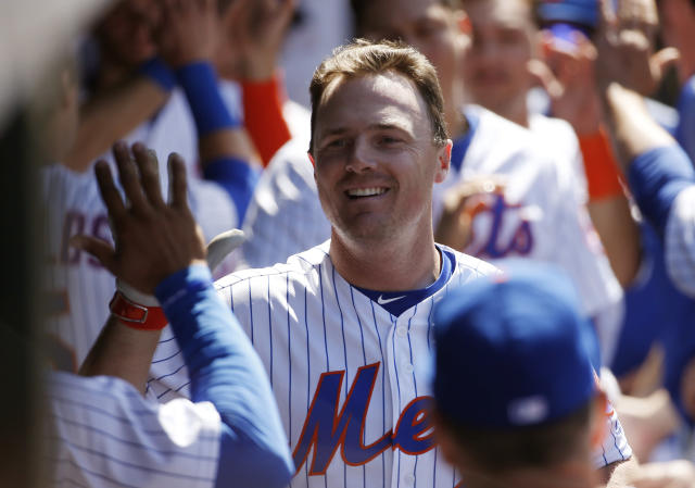 "<a class=""link rapid-noclick-resp"" href=""/mlb/players/8171/"" data-ylk=""slk:Jay Bruce"">Jay Bruce</a> is hoping to spark a Mets turnaround in 2018. (AP Photo/Kathy Willens)"