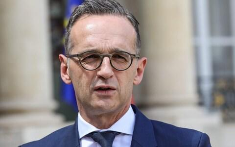 "<span>Heiko Maas, the German foreign minister, called for a ""coalition of the willing"" to take in the migrants</span> <span>Credit: LUDOVIC MARIN/AFP </span>"