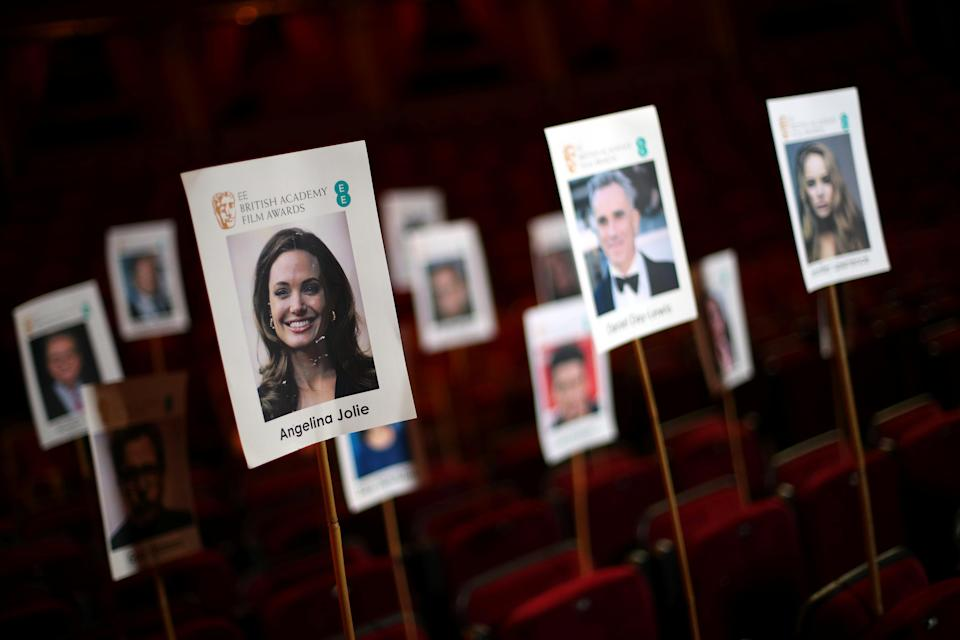 The seating plan for guests ahead of the British Academy of Film and Television Awards (BAFTA) is seen during a photo call at London's Royal Albert Hall in London, Britain, February 15, 2018. REUTERS/Hannah McKay