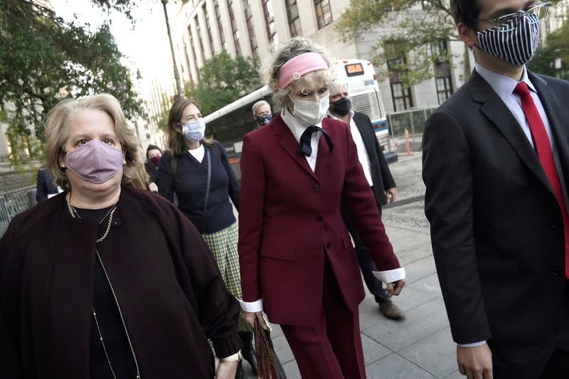 FILE PHOTO: U.S. President Donald Trump rape accuser E. Jean Carroll departs from her hearing at federal court