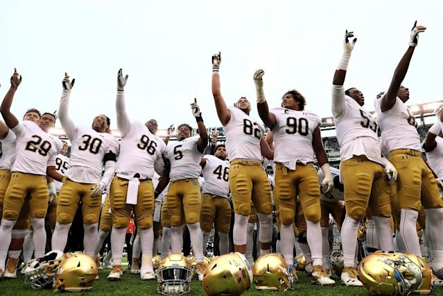 Notre Dame's ACC football alignment is set through 2037. (Getty)