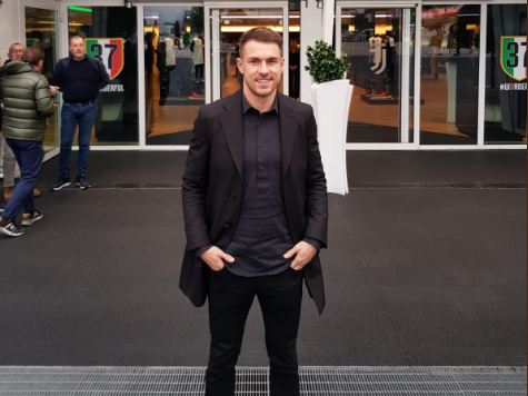 Ramsey arrives at the Allianz Stadium (@JuventusFC)